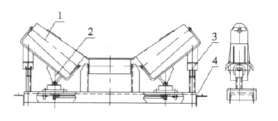 Taper Self Aligning Idler Drawing